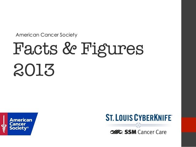 American Cancer SocietyFacts & Figures2013                           !