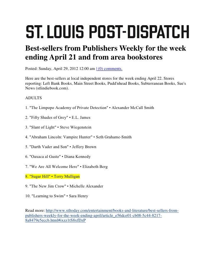St. Louis Post-Dispatch, 29 April 2012