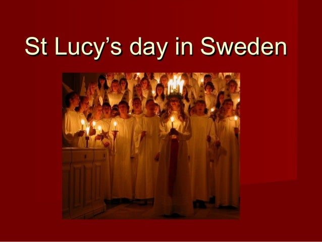 St Lucy's day in Sweden