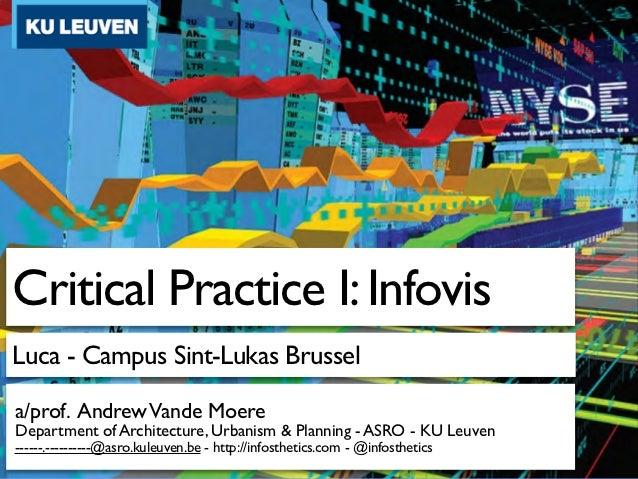 Critical Practice I: InfovisLuca - Campus Sint-Lukas Brussela/prof. Andrew Vande MoereDepartment of Architecture, Urbanism...
