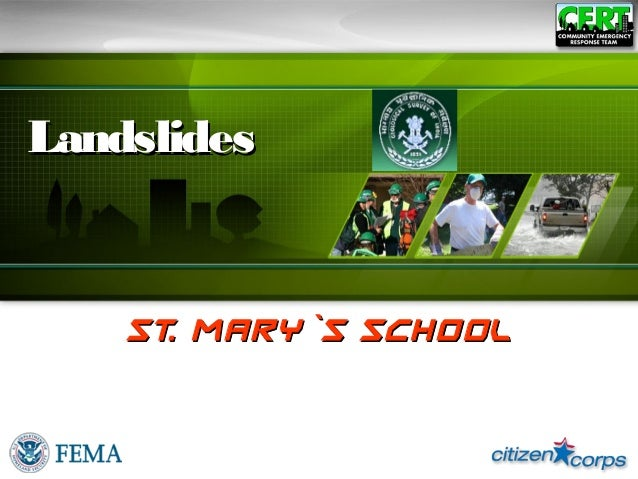 St.Mary`s school,teenmile,tezpur, hazard landslides class ix group 4