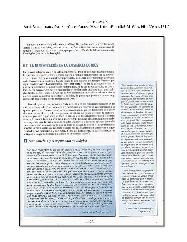 """BIBLIOGRAFÍA  Abad Pascual Juan y Días Hernández Carlos. """"Historia de la Filosofía!. Mc Graw Hill. (Páginas 131-4)"""
