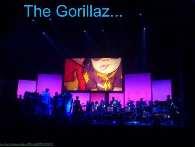 The Gorillaz...http://www.flickr.com/photos/52005963@N00/97668870/