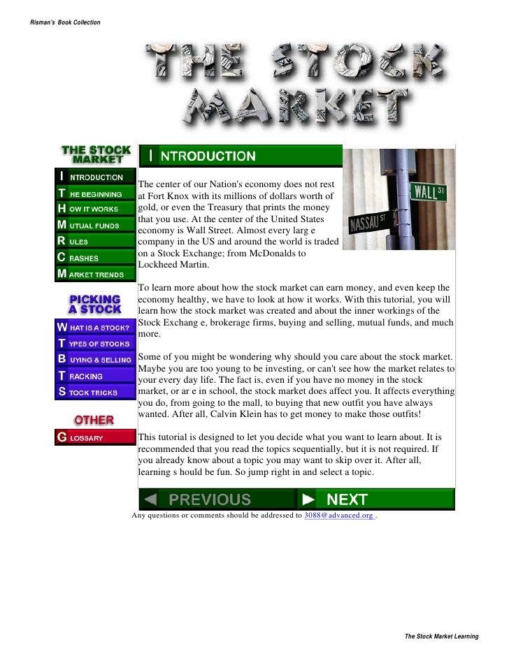 Stock Market Learning