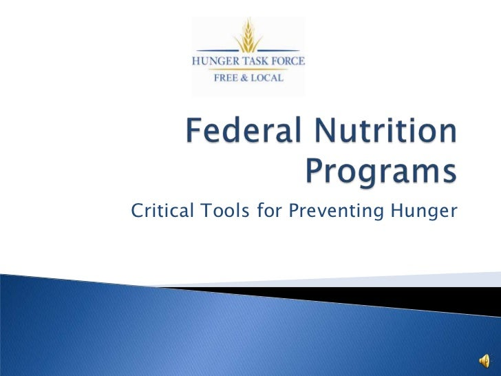 Critical Tools for Preventing Hunger
