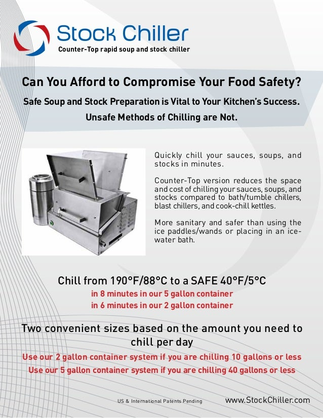 Can You Afford to Compromise Your Food Safety? Safe Soup and Stock Preparation is Vital to Your Kitchen's Success. Unsafe ...