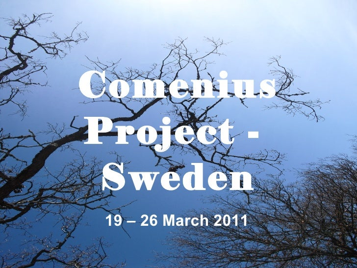 Comenius Project -  Sweden 19 – 26 March 2011