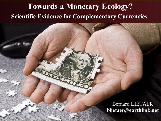 Financial reform for a sustainable economy - Bernard Lietaer