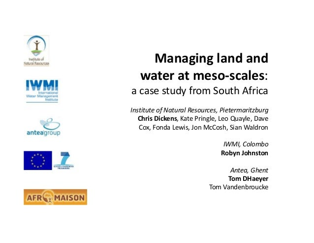 Managing land and water at meso-scales: a case study from South Africa
