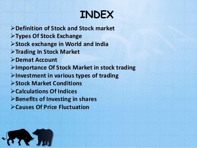 Types of stock market options
