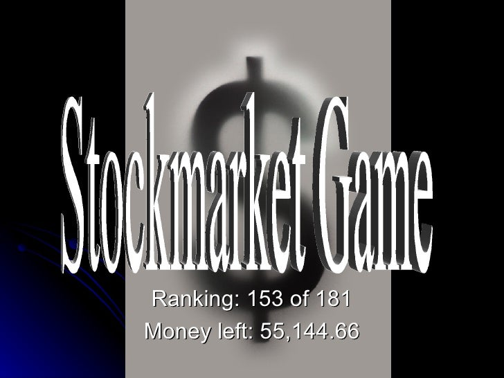 Stockmarket Game