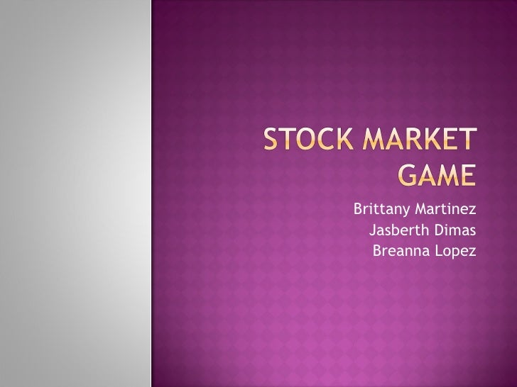 Stock market game[1]
