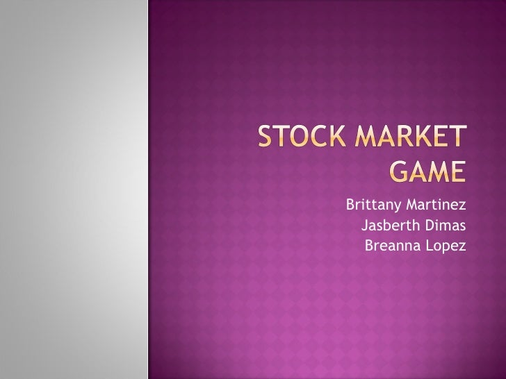 Stock market game[1]