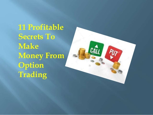 How to make money trading options