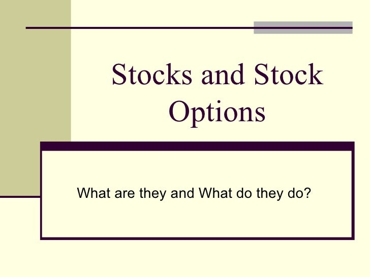 How to put stock options work
