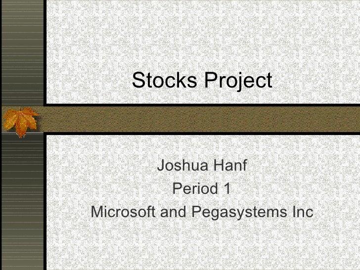Stocks project josh hanf