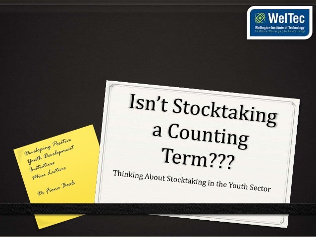 Stocktake lecture