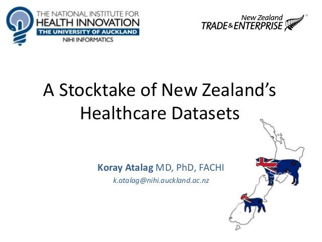 A Stocktake of New Zealand's Healthcare Datasets