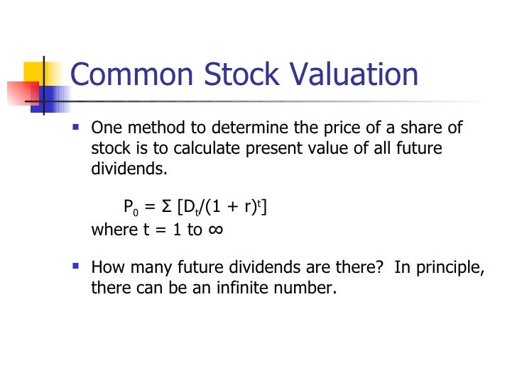Stock options company valuation