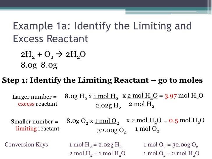 the Limiting Reactant   go Reactant Example