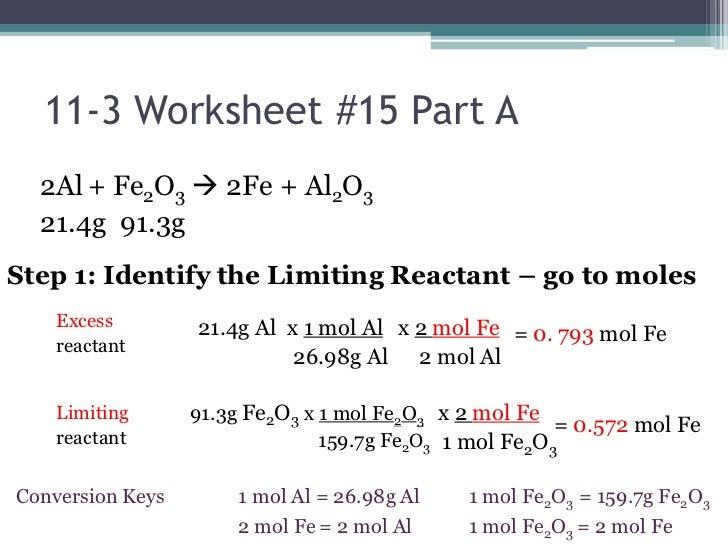stoichiometry limiting reagent worksheet - Termolak