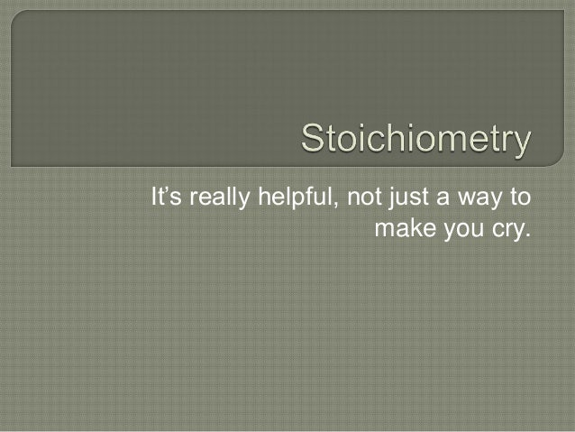 Stoichiometry part 2