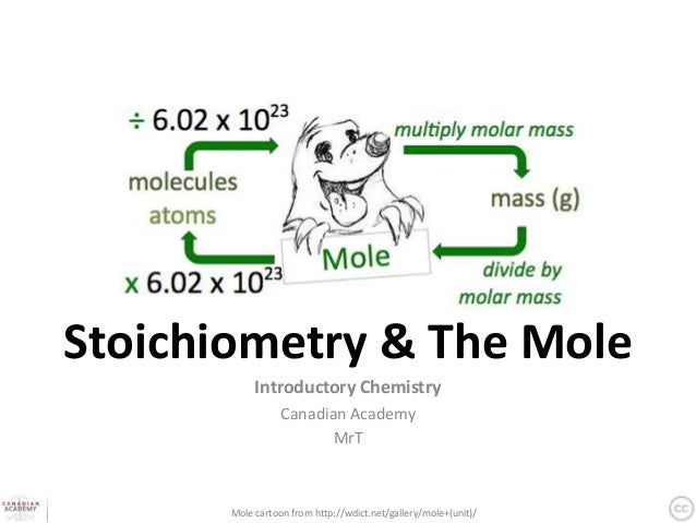 Stoichiometry & The Mole            Introductory Chemistry                  Canadian Academy                         MrT  ...