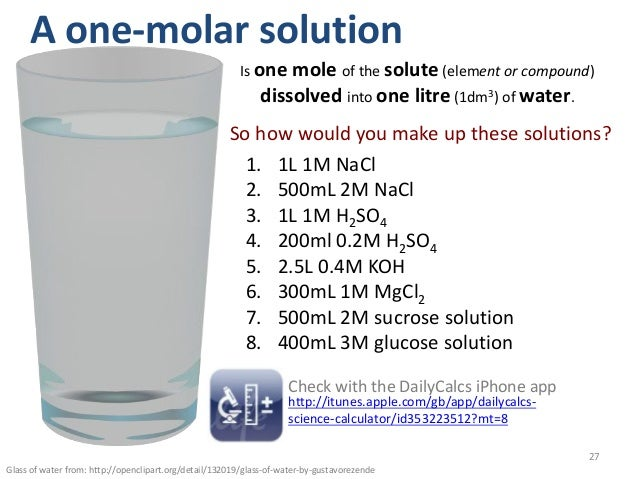 how to make a mol solution in 1l