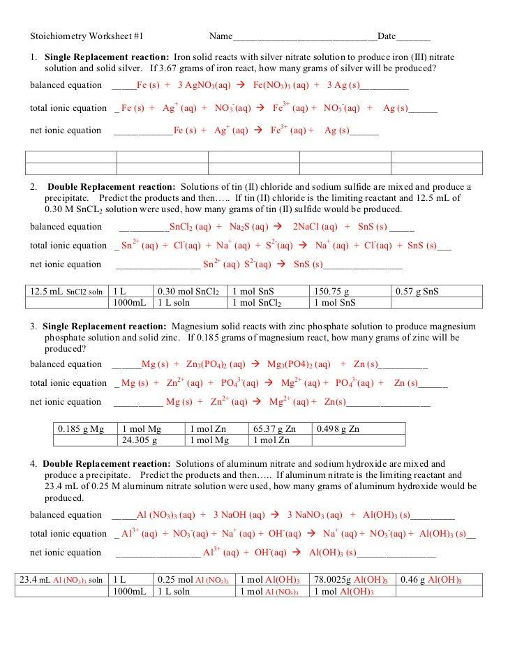 single replacement reaction worksheet lesupercoin printables worksheets. Black Bedroom Furniture Sets. Home Design Ideas