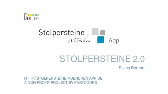 Stolpersteine 2.0 by Sacha Bertram and Martina Bachmann from pARTcours