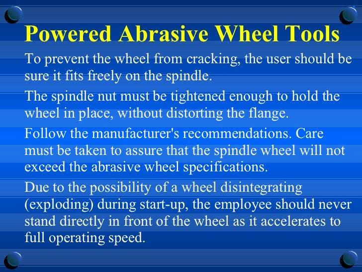 abrasive wheels powerpoint presentation uk