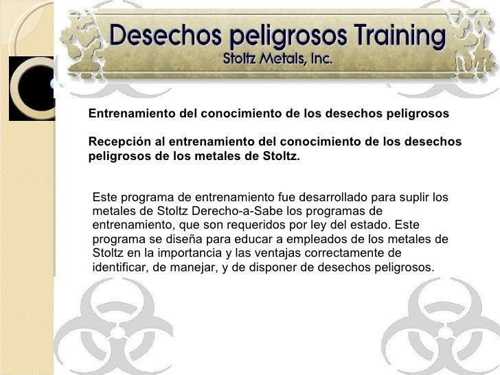 Hazardous Waste Safety Training - Spanish