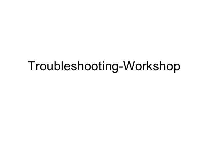 Stoma modules   troubleshooting workshop