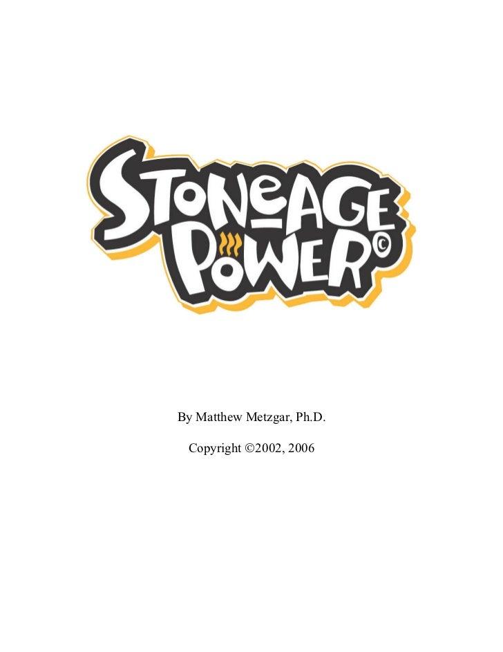 Stoneagepowere book