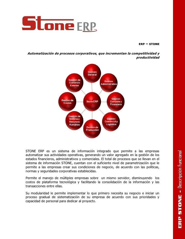 ERP   – STONE Automatización de procesos corporativos, que incrementan la competitividad y                                ...
