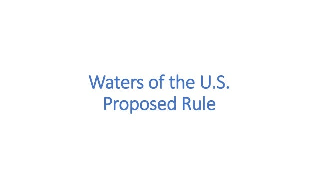 Waters of the U.S. Proposed Rule