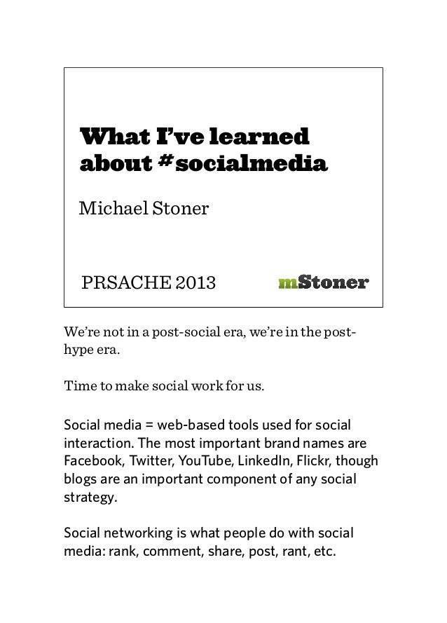 What I Learned About #SocialMedia Editing Social Works