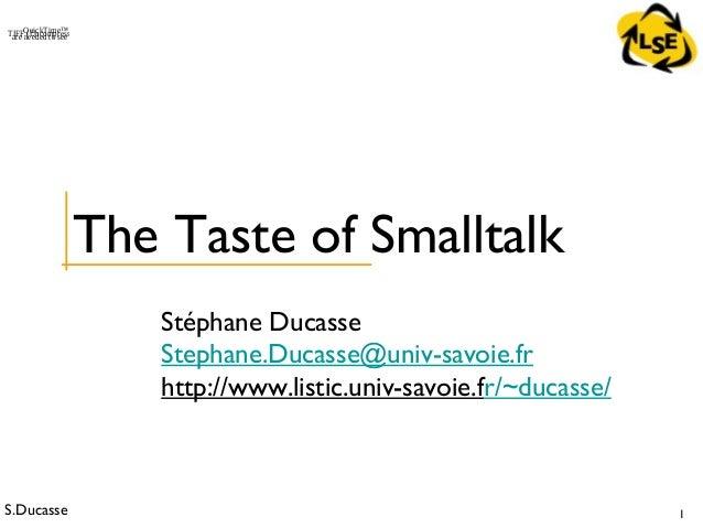 4 - OOP - Taste of Smalltalk (VisualWorks)