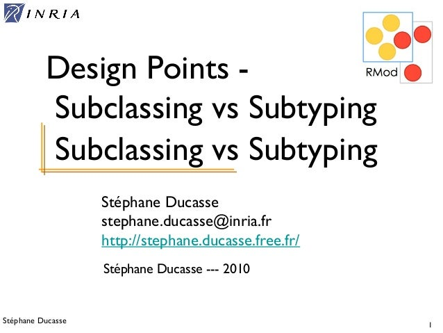 Stoop ed-subtyping subclassing
