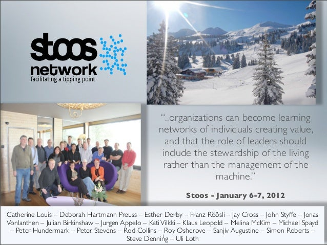 """..organizations can become learning                                                       networks of individuals creatin..."