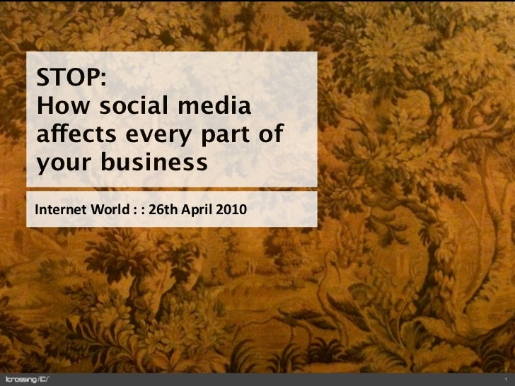 STOP: How social media affects every part of your business InternetWorld::26thApril2010                            ...