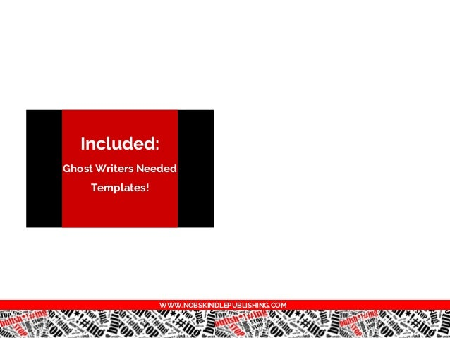 Ghost writers needed