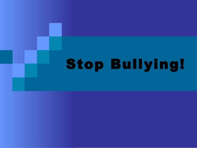 Stop bullying! socials project