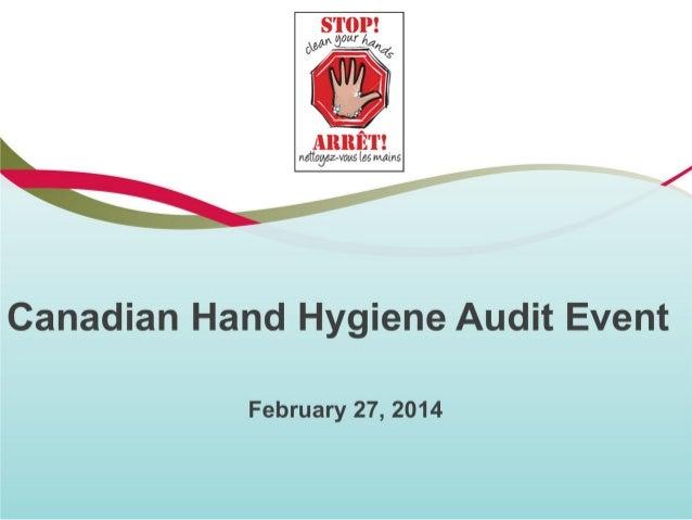 Canadian Hand Hygiene Audit Event
