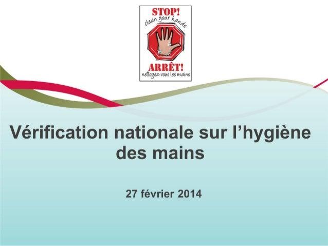 Vérification nationale de l'hygiène des mains