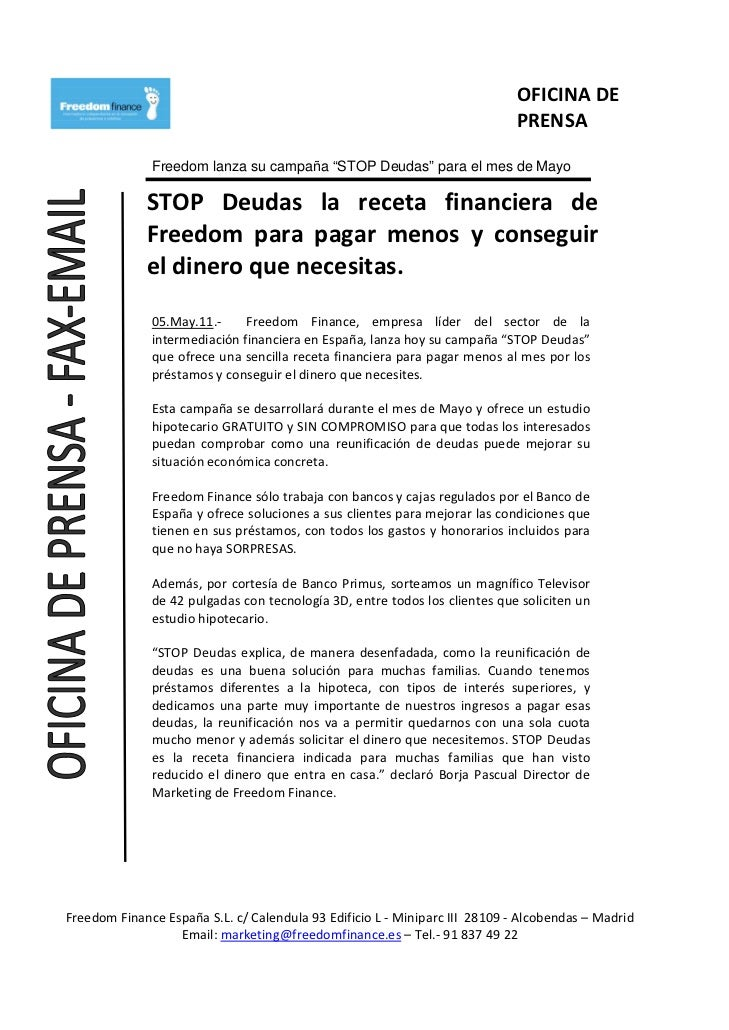 Stop deudas la receta financiera de freedom for Hipoteca oficina directa