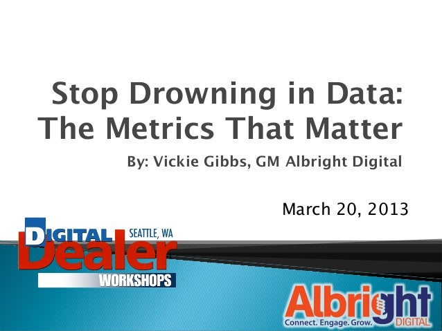 Stop Drowning in Data:
