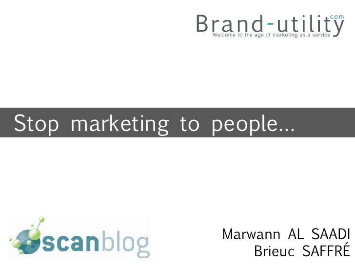 Stop marketing to people - context marketing