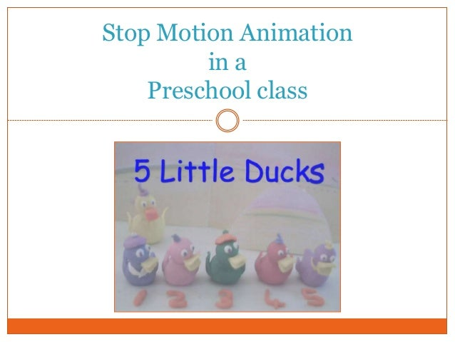 Stop Motion Animation in a Preschool class