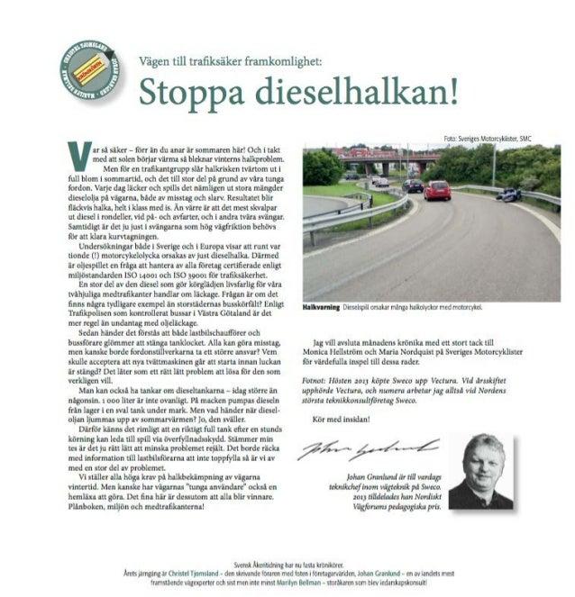 Vägen till trafiksäker framkomlighet - Stoppa dieselhalkan